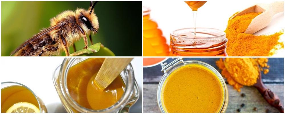 Remedio a base de miel de abeja y curcuma