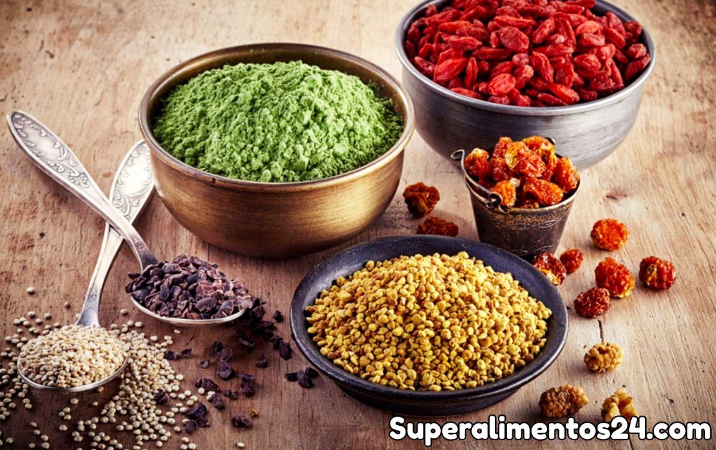 Alimentos sanos altos en vitaminas y fitonutrientes