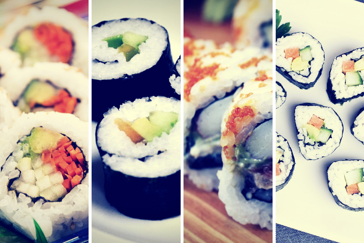 Sushi con Wasabi, exquisita combinación